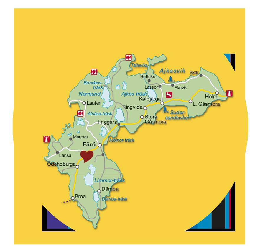 Kartbild med ett hjärta utsatt på Pastamakarnas plats.